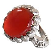 انگشتر نقره عقیق یمن قرمز خوش رنگ مردانه