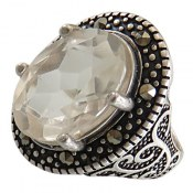انگشتر در نجف درشت الماس تراش زنانه