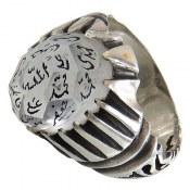 انگشتر نقره در نجف تراش حکاکی چهارده معصوم مردانه