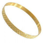 النگو نقره طلائی طرح خاتون سایز 2