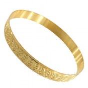 النگو نقره طلائی طرح شمیم سایز 2