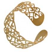 دستبند نقره طلائی طرح عشق زنانه