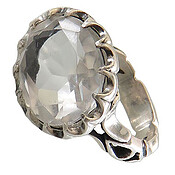 انگشتر نقره در نجف درشت الماس تراش مردانه