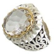 انگشتر در نجف درشت مرغوب الماس تراش سلطنتی مردانه