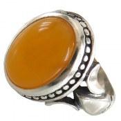 انگشتر نقره عقیق زرد شرف الشمس طرح بهنام مردانه