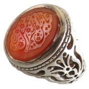 انگشتر نقره عقیق یمن درشت مرغوب حکاکی یا من اظهر الجمیل مردانه