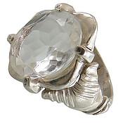 انگشتر نقره در نجف الماس تراش مردانه