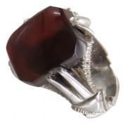 انگشتر نقره عقیق مرغوب ابروبادی مردانه