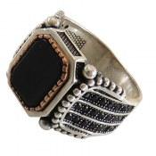 انگشتر نقره طرح کلاسیک مردانه