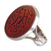 انگشتر نقره عقیق درشت حکاکی امیری حسین و نعم الامیر مردانه