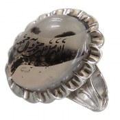 انگشتر نقره عقیق درشت شجر حکاکی صلوات مردانه