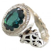 انگشتر توپاز سبز مرغوب سلطنتی مردانه