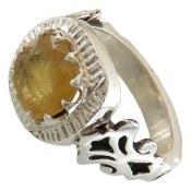 انگشتر یاقوت زرد شاهانه مردانه