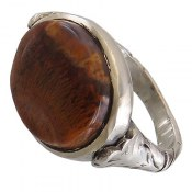 انگشتر نقره عقیق شجر خزه ای درشت مردانه