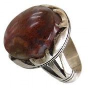 انگشتر عقیق شجر خزه ای درشت مردانه