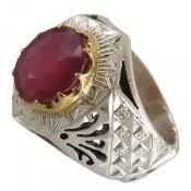 انگشتر یاقوت سرخ مرغوب شاهانه مردانه
