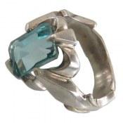 انگشتر توپاز سبز آبی مرغوب مردانه