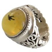 انگشتر اپال زرد درشت مردانه