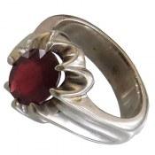 انگشتر نقره یاقوت سرخ مرغوب مردانه