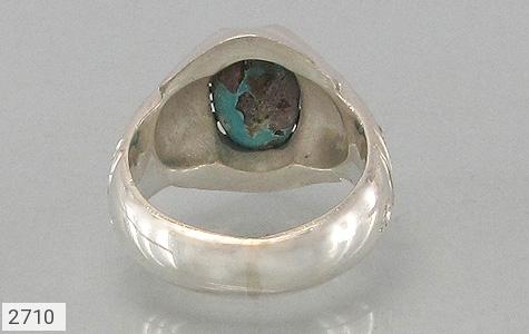 عکس انگشتر نقره الماس و فیروزه نیشابوری درشت مردانه