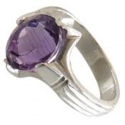 انگشتر نقره آمتیست جذاب و خوش رنگ مردانه