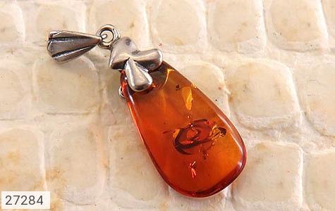 عکس مدال نقره کهربا بولونی لهستان عسلی زنانه