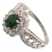 انگشتر نقره زمرد مرغوب سلطنتی زنانه