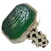 انگشتر نقره عقیق درشت حکاکی یا زینب کبری مردانه