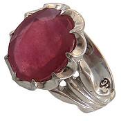 انگشتر یاقوت سرخ درشت خوش رنگ مردانه