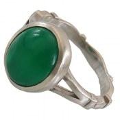 انگشتر نقره عقیق سبز مرغوب مردانه