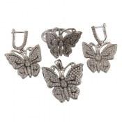 سرویس نقره طرح پروانه زنانه