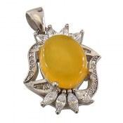 مدال عقیق زرد شرف الشمس مرغوب زنانه