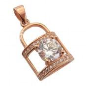 مدال نقره طرح قفل زنانه