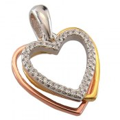 مدال نقره طرح قلب عشق زنانه