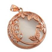 مدال نقره چشم گربه طرح بهار زنانه