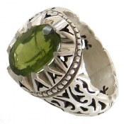 انگشتر نقره زبرجد خوش رنگ مردانه