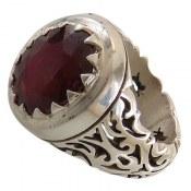 انگشتر نقره یاقوت سرخ سلطنتی مردانه