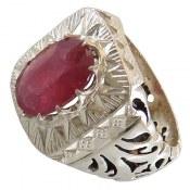 انگشتر نقره یاقوت سرخ مرغوب سلطنتی مردانه