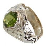 انگشتر نقره زبرجد خوش رنگ مرغوب مردانه