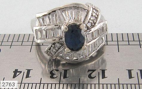 عکس انگشتر یاقوت کبود جواهری زنانه