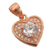 مدال نقره طرح قلب زنانه