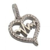 مدال نقره طرح ضربان قلب زنانه