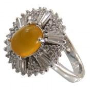 انگشتر نقره عقیق زرد طرح آتوسا زنانه
