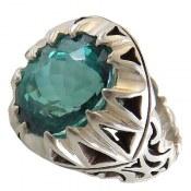 انگشتر نقره توپاز سلطنتی درشت مردانه