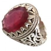 انگشتر نقره یاقوت سرخ درشت سلطنتی و بینظیر مردانه