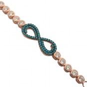 دستبند نقره طرح بی نهایت زنانه