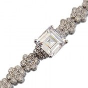 دستبند نقره طرح پرنسس زنانه