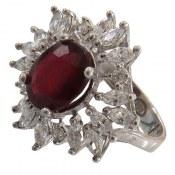 انگشتر نقره یاقوت سرخ سلطنتی طرح پرنسس زنانه