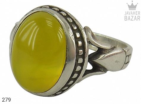 عکس انگشتر عقیق زرد شرف الشمس