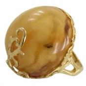 انگشتر نقره کهربا بولونی لهستان درشت سلطنتی طرح ماریا زنانه